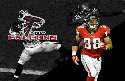 Tony Gonzalez Falcons Art Print by Joe Hamilton