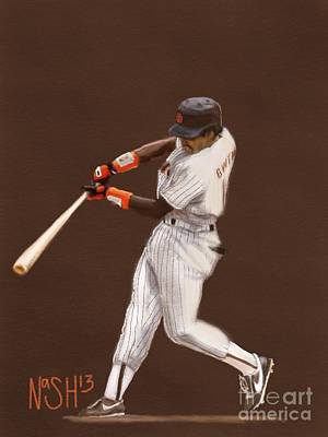 Tony Gwynn Art Print by Jeremy Nash