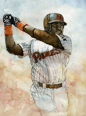 San Diego Mixed Media - Tony Gwynn by Michael  Pattison