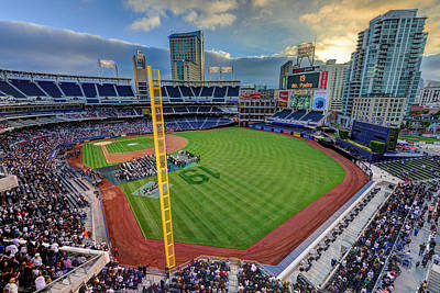 San Diego California Baseball Stadiums Photograph - Tony Gwynn Tribute At Petco Park by Mark Whitt