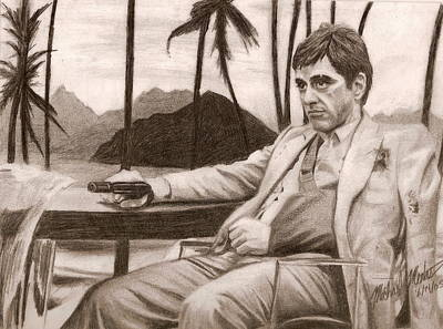Drawing - Tony Montana by Michael Mestas