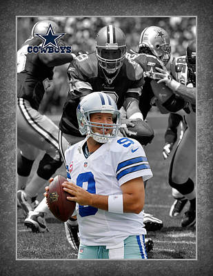 Tony Romo Cowboys Art Print by Joe Hamilton