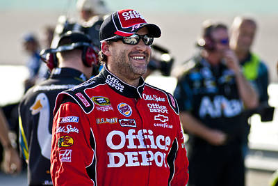 Tony Stewart Photograph - Tony Smiles by Kevin Cable