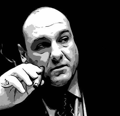 The Boss Digital Art - Tony Soprano by Dan Sproul