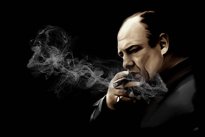 Smoking Digital Art - Tony Soprano by Laurence Adamson