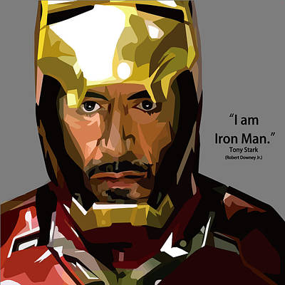 Tony Stark Iron Man Art Print by Aura Art
