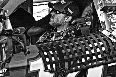 Tony Stewart Photograph - Tony Stewart Focuses by Kevin Cable
