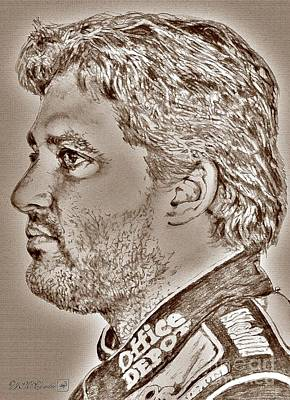 Tony Stewart Digital Art - Tony Stewart In 2011 by J McCombie
