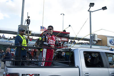 Tony Stewart Photograph - Tony Stewart Introduction In Truck by Kevin Cable