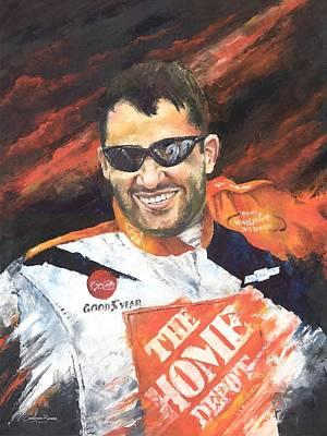 Painting - Tony Stewart - Nascar by Christiaan Bekker