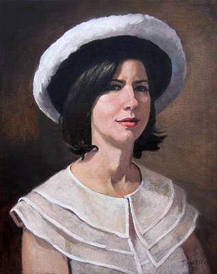 Painting - Tonya Wearing Her Mothers Hat by Kathryn Donatelli