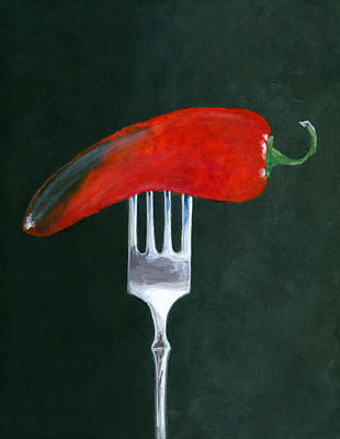 Pepper Painting - Too Hot To Handle by Karyn Robinson