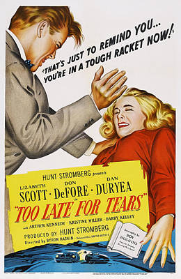 Too Late For Tears, Us Poster Art Art Print