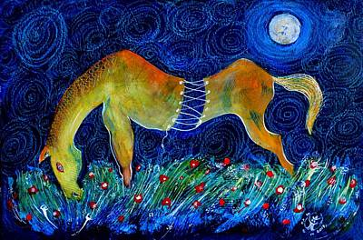 Farm Life Paintings Rob Moline - Too Long a Horse by ITI Ion Vincent Danu