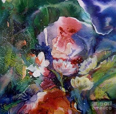 Painting - Too Many Flowers by Donna Acheson-Juillet