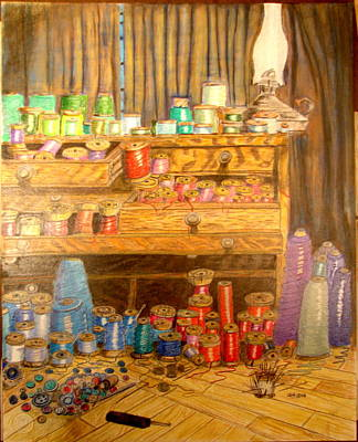 Tool Chest With Thimbles Print by Joseph Hawkins