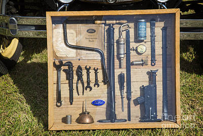 Photograph - Tool Kit For 1929 Ford Classic Antique Automobile Car In Color   by M K Miller