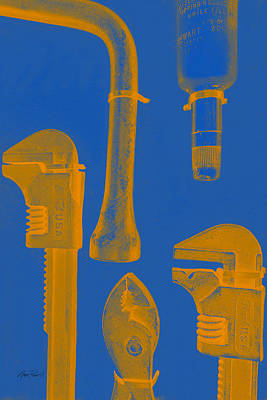 Photograph - Tool Set In Orange And Blue by Ann Powell