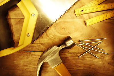 Work Tool Photograph - Tools by Les Cunliffe