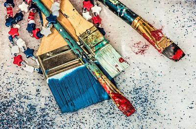 Tools Of A Patriotic Artist Art Print by Gary Slawsky