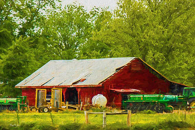 Photograph - Farm - Barn - Tractor - Tools Of The Trade by Barry Jones