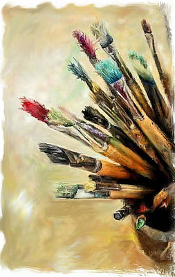 Blending Mixed Media - Tools Of The Trade... by Mark Tonelli