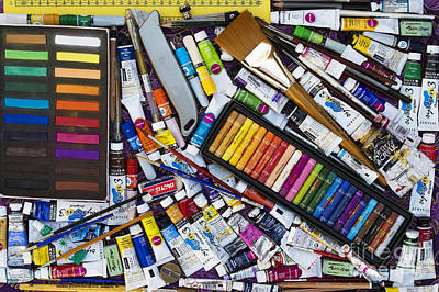Crayons Photograph - Tools Of The Trade by Tim Gainey