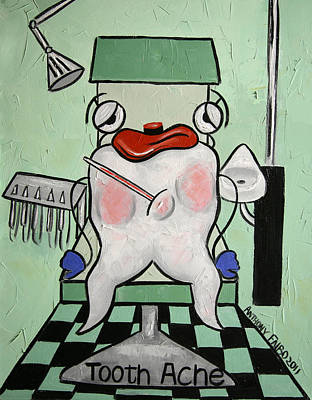 Tooth Ache Art Print by Anthony Falbo