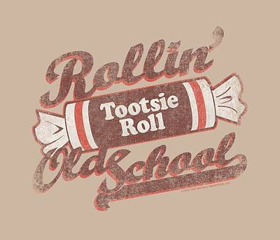 Candy Digital Art - Tootsie Roll - Old School by Brand A