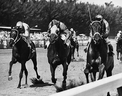 Colonel Wall Art - Photograph - Top Colonel Horse Racing Vintage by Retro Images Archive