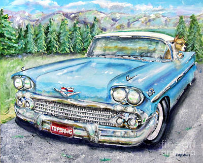 Painting - Top Dog Chevy by Chris Dreher