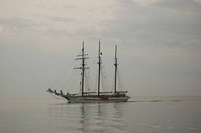 Photograph - Topsail Schooner Mystic by Christopher James