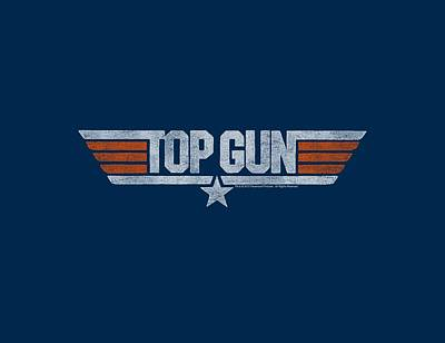Goose Wall Art - Digital Art - Top Gun - Distressed Logo by Brand A