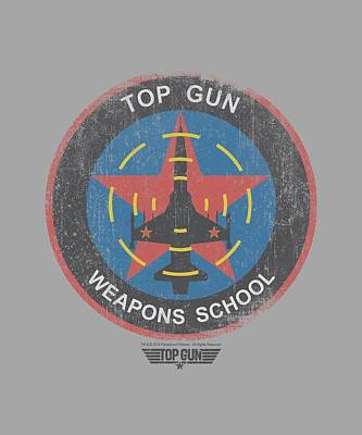 Goose Digital Art - Top Gun - Flight School Logo by Brand A