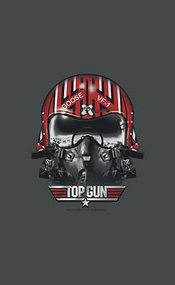 Goose Digital Art - Top Gun - Goose Helmet by Brand A