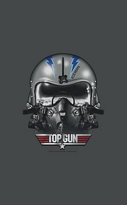 Goose Digital Art - Top Gun - Iceman Helmet by Brand A