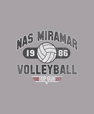 Goose Digital Art - Top Gun - Nas Miramar Volleyball by Brand A
