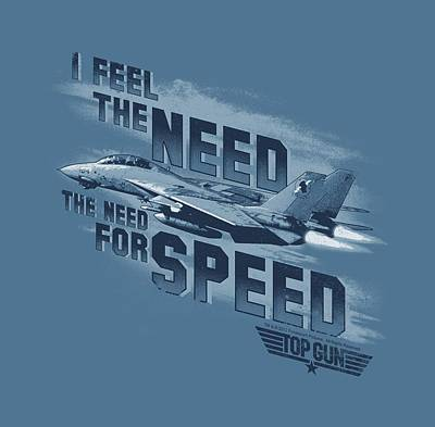 Goose Digital Art - Top Gun - Need For Speed by Brand A