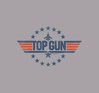 Geese Wall Art - Digital Art - Top Gun - Star Logo by Brand A