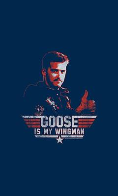 Goose Digital Art - Top Gun - Wingman Goose by Brand A