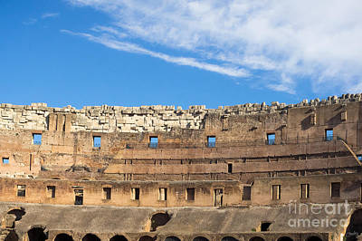 Photograph - Top Interior Wall Of Colosseum by Prints of Italy