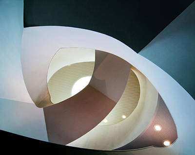Stairs Photograph - Top Light by Henk Van Maastricht