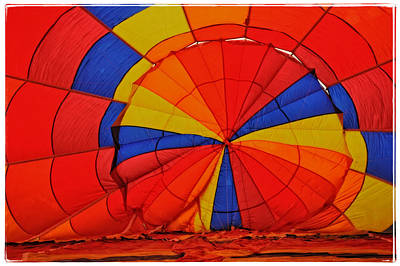 Photograph - Top Of Balloon From Inside by Mike Martin