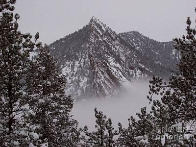 Top Of Bear Peak Mountain Above The Fog Original