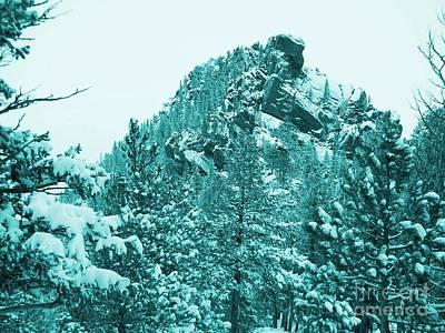 Top Of Bear Peak Mountain In Blue Hue - North Side Original