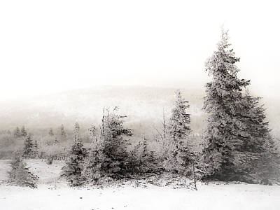 Snowy Scene Photograph - Top Of Canaan In Winter by Shane Holsclaw