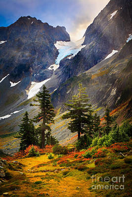 Top Of Cascade Pass Art Print by Inge Johnsson