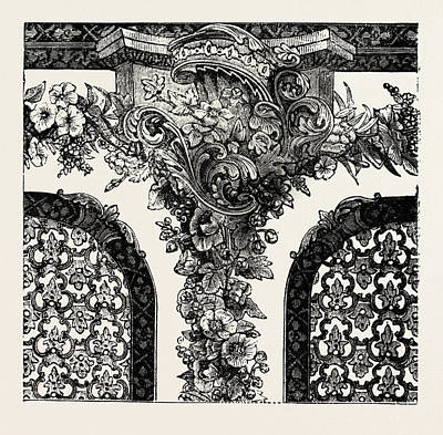 Historic Home Drawing - Top Of Decoration For Room by Messrs. Horne, English, 19th Century