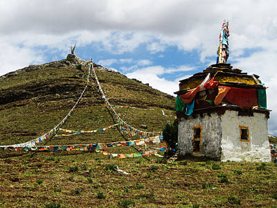 Tibetan Buddhism Photograph - Top Of Hill by James Wheeler