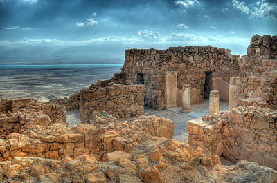 Photograph - Top Of Masada by Don Wolf